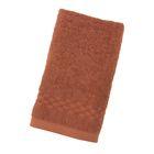 Полотенце Collorista однотонное, цвет коричневый, размер 40х70 см +/- 3 см, 400 гр/м2