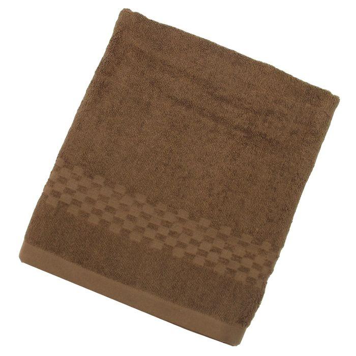 Полотенце Collorista банное однотонное, цвет табак, размер 100х150 см +/- 3 см, 400 г/м2