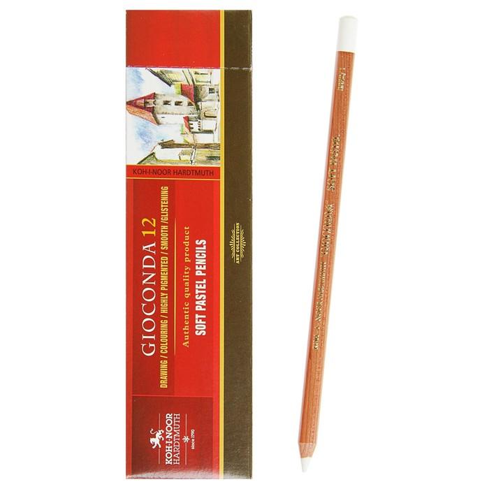 Пастель сухая художетсвенная Soft в карандаше Koh-I-Noor GIOCONDA 8820/1 Pastel белый