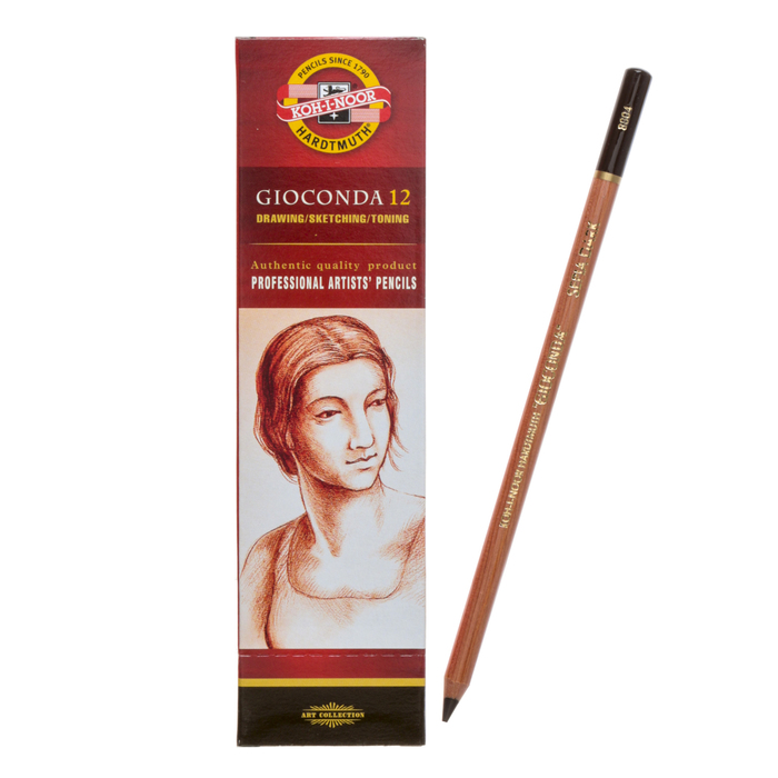 Сепия Koh-I-Noor GIOCONDA 8804 в карандаше коричневая, темная, лаковый корпус