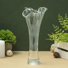 """Vase """"Wave"""" transparent, medium"""