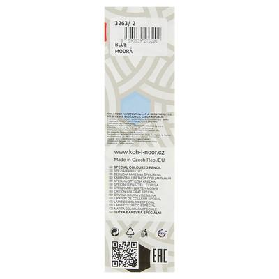 Карандаш Koh-I-Noor 3263/2 специальный, для письма по стеклу, металлу, пластику, цвет синий
