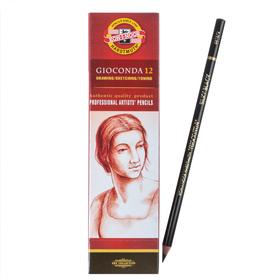 Карандаш художественный чернографитный 4.2 мм, Koh-I-Noor GIOCONDA 8815 HB, чёрный, L=175 мм