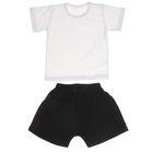 Комплект для мальчика (футболка+шорты), рост 92-98 см, цвет белый-чёрный (арт. 407)