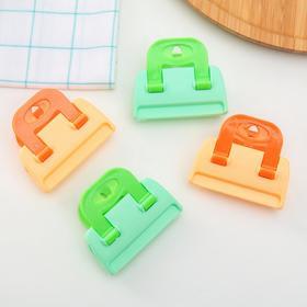 Clip-clothespin for packages (set 4 PCs) MIX color