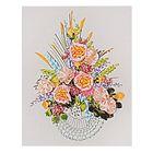 Набор для вышивания лентами «Букет радость» размер основы: 40×50 см