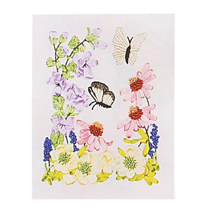 """Набор для вышивания лентами """"Цветочное разнообразие"""" размер основы 30*30 см"""