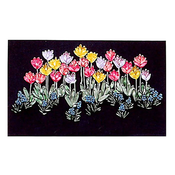 """Набор для вышивания лентами """"Фантазийные цветы"""" размер основы 35*55 см"""
