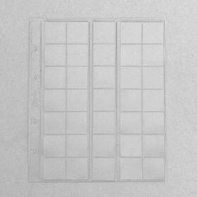 A set of sheets for coins, 5 pieces, 200x250 mm, on a sheet of 35 cells 30x32 mm, sliding.