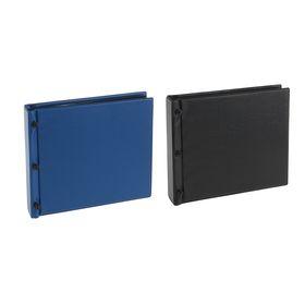 Альбом для значков горизонтальный с листами на ткани, 250 х 235 мм, на винтах, ПВХ, 15 листов ( 5 листов из ткани, 5 листов из картона, 5 прозрачных разделителей ПВХ), МИКС