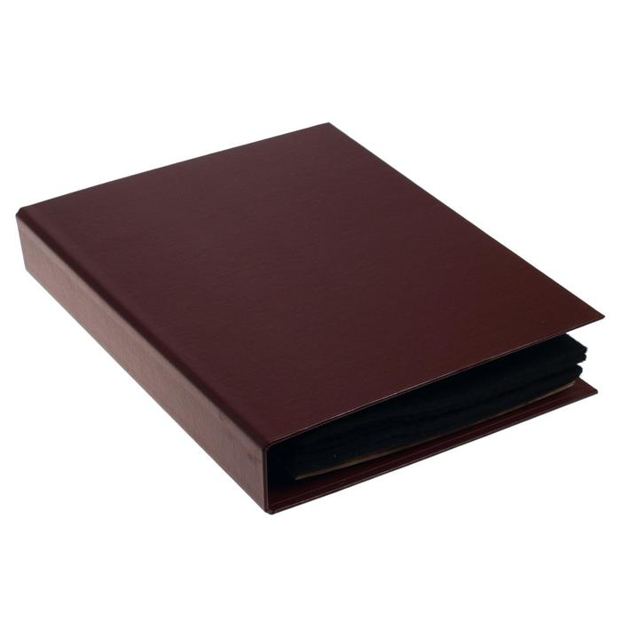 Альбом для значков с листами на ткани, 230х270 мм, бумвинил, МИКС - фото 408711140