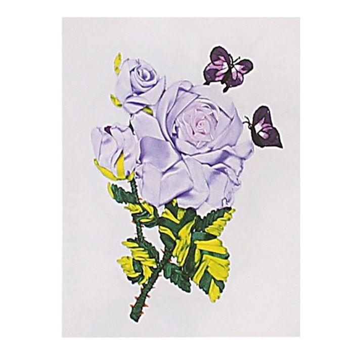 """Набор для вышивания лентами """"Редкая роза"""" размер основы 30*30 см"""