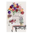Набор для вышивания лентами «Тюльпаны в вазе» размер основы: 65×45 см