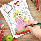 """Роспись по номерам с карандашами """"Принцесса"""", 15 х 21 см"""