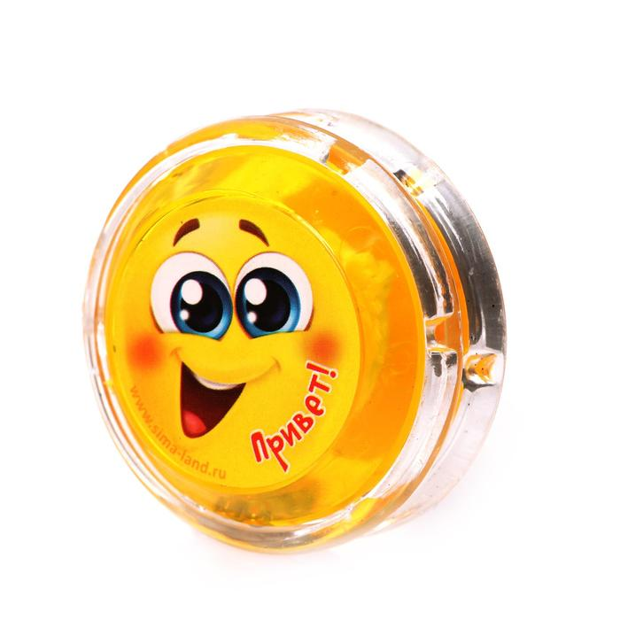 Йо-Йо «Привет», шарики внутри, d=4,7 см, цвета МИКС