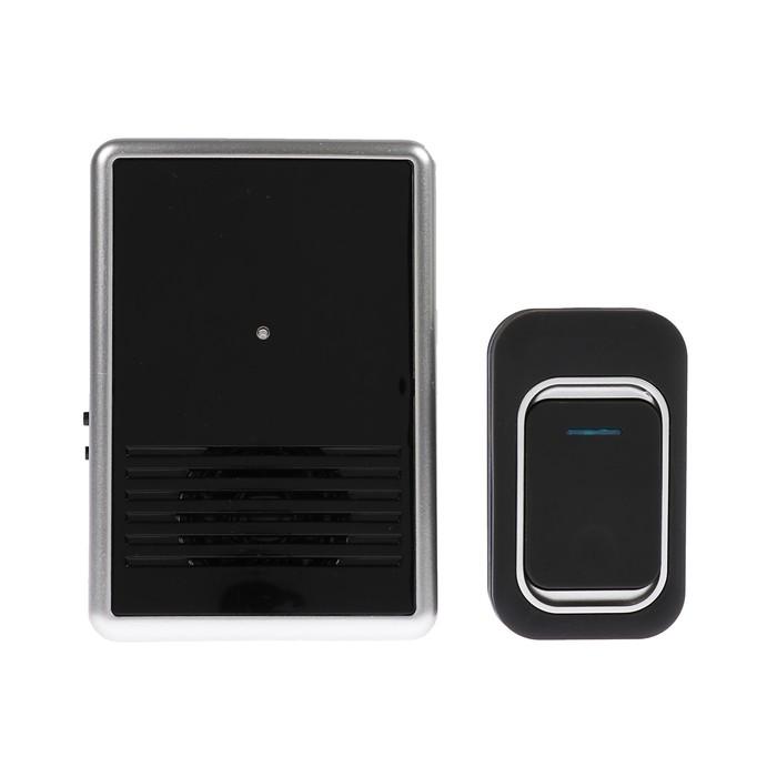 Беспроводной дверной звонок LuazON LZDV-12-1 , от 220 В, чёрный