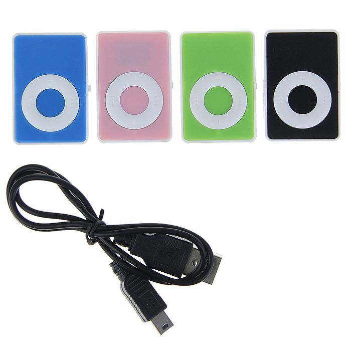 MP3-плеер Luazon LMP-01, АКБ, MicroSD, MiniUSB 5pin, МИКС