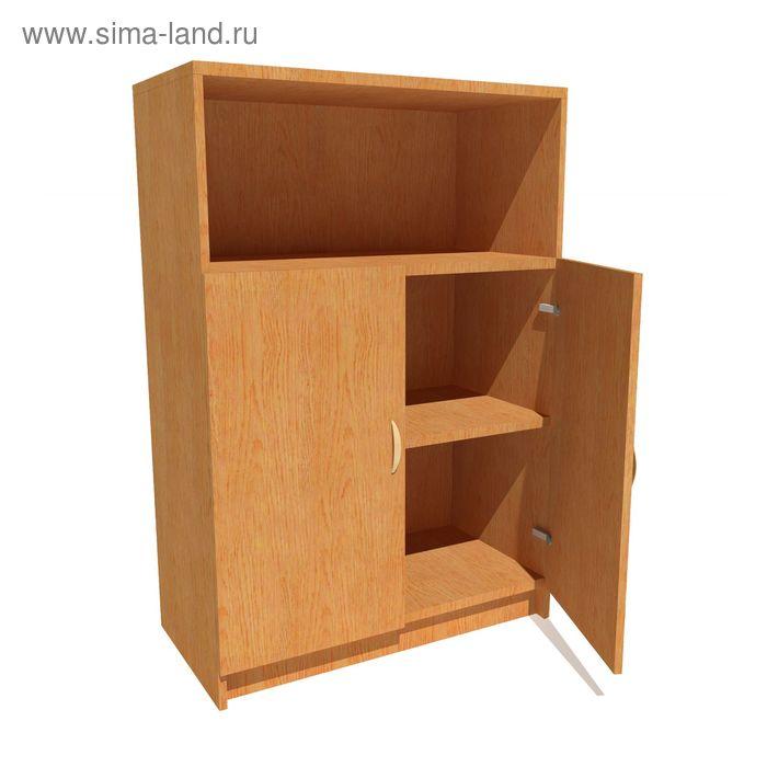 Шкаф для документов средний с нижними дверями 800*420*1190 бук бавария