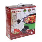Сковорода электрическая Sakura SA-7711GR, 1500 Вт, d=32, глубина 5 см - фото 886339