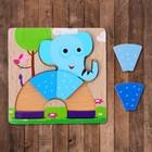 """Рамка-вкладыш """"Слонёнок в форме радуги"""", 5 элементов - фото 105592693"""