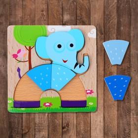 """Рамка-вкладыш """"Слонёнок в форме радуги"""", 5 элементов"""