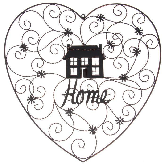 """Декоративная вывеска """"Home"""" сердце"""