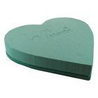 """Губка флористическая """"Виктория"""" сердце на пластиковой подставке, 20 см х 19 х 5 см"""