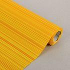 """Бумага упаковочная крафт """"Полоски люкс"""", жёлто-оранжевая, 0.5 х 10 м"""