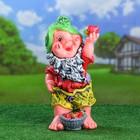 """Садовая фигура """"Гном с клубникой"""", гипс, 49 см, микс - фото 1628674"""