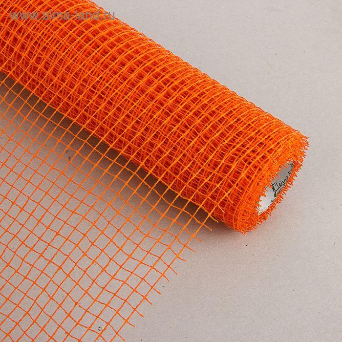 Сетка для цветов, натуральная оранжевая, 50 см х 5 м