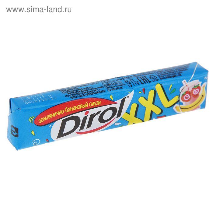 """Жевательная резинка Dirol """"Землянично-банановый смузи"""", 19 г"""