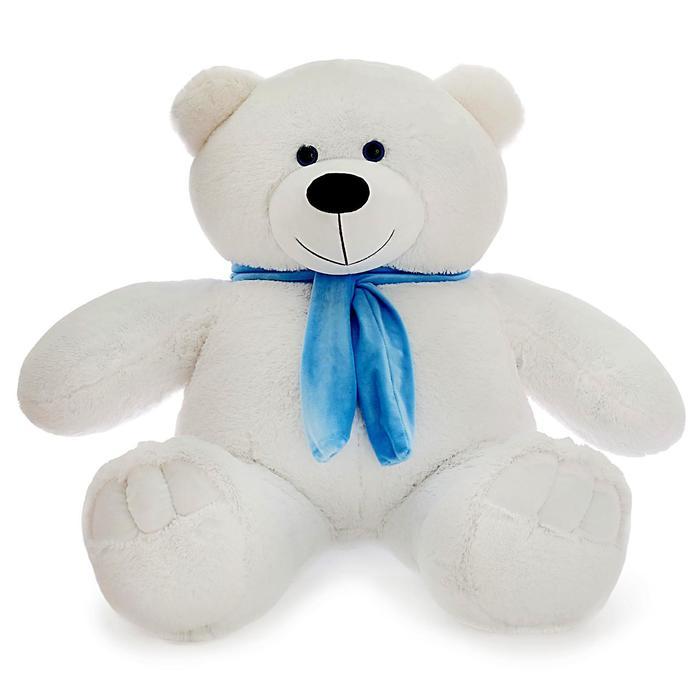 """Мягкая игрушка """"Мишка Олимп"""", цвет белый, 110 см"""
