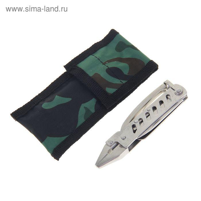 Инструмент универсальный 6в1, в камуфляжном чехле