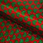 """Пленка голография """"Зелёные сердца"""", 70 х 100 см"""
