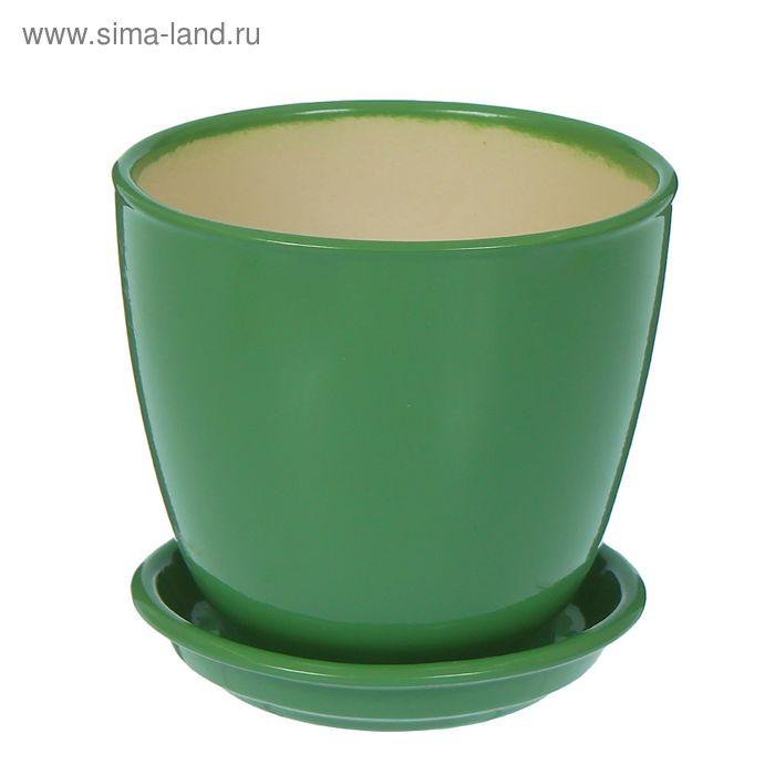 """Кашпо """"Кедр глянец, оливковое, 1,6 л"""