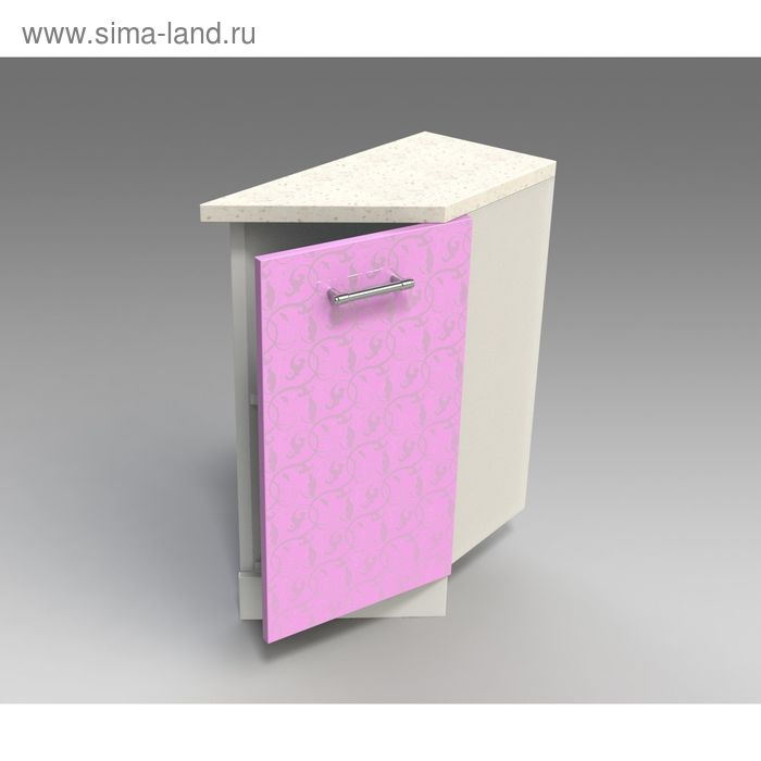 Шкаф напольный  скошенный правый 850*300*600  Ирис