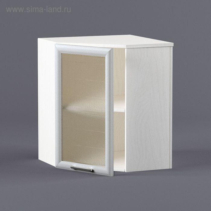 Шкаф навесной угловой 720*600*600*300 Рамка серая
