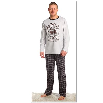 Комплект мужской (джемпер, брюки), размер 50, цвет коричневый (арт. 945)