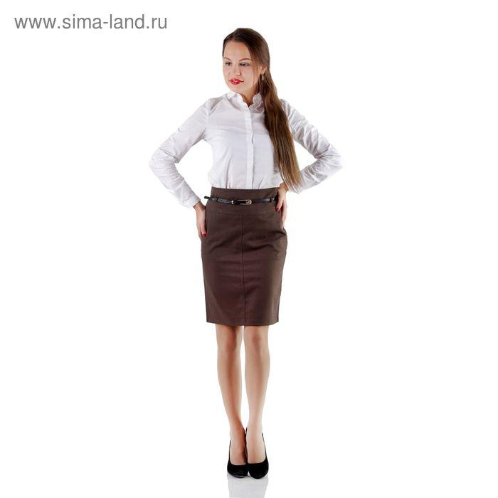 Юбка женская 430А, размер 42, рост 170, цвет молочный шоколад