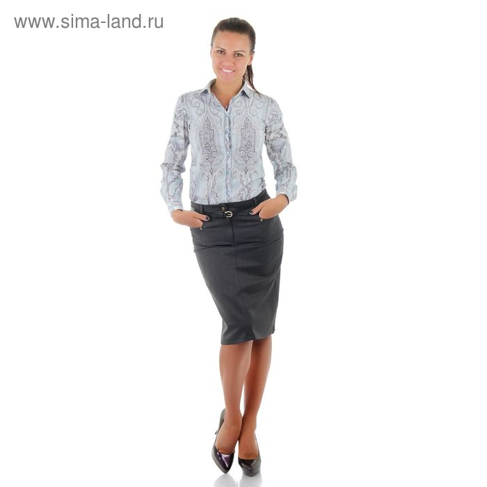 Юбка женская, размер 56, рост 170, цвет серый (арт. 486 С+)