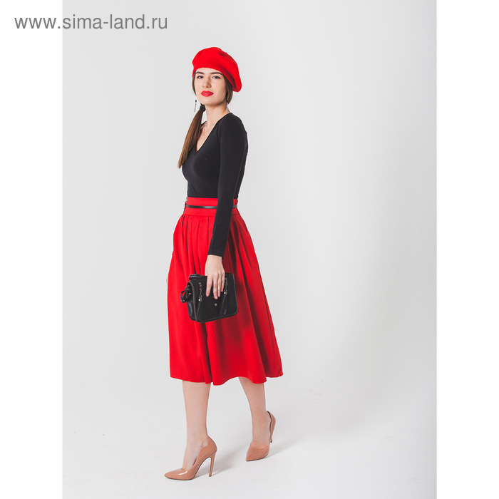 Юбка женская, размер 50, рост 170, цвет красный (арт. 455 С+)