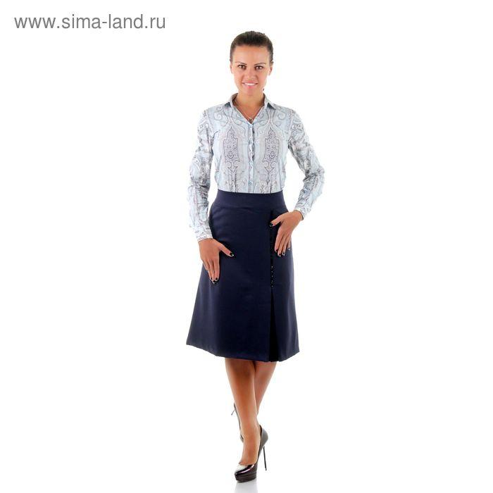 Юбка женская 450 С+, размер 52, рост 170, цвет синий