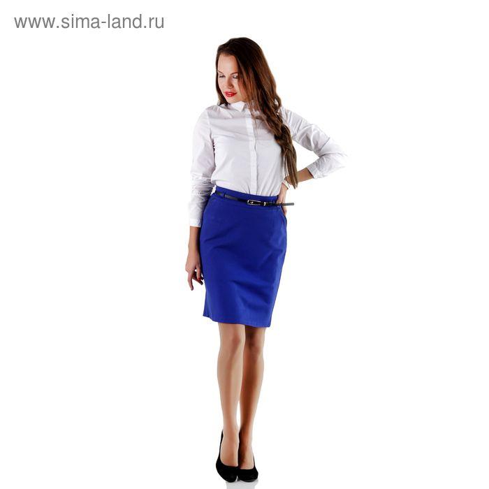 Юбка женская 459, размер 46, рост 170, цвет синий