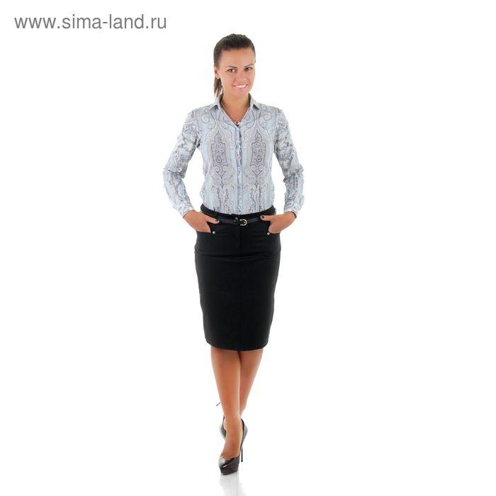 Юбка женская, размер 50, рост 170, цвет чёрный (арт. 486 С+)