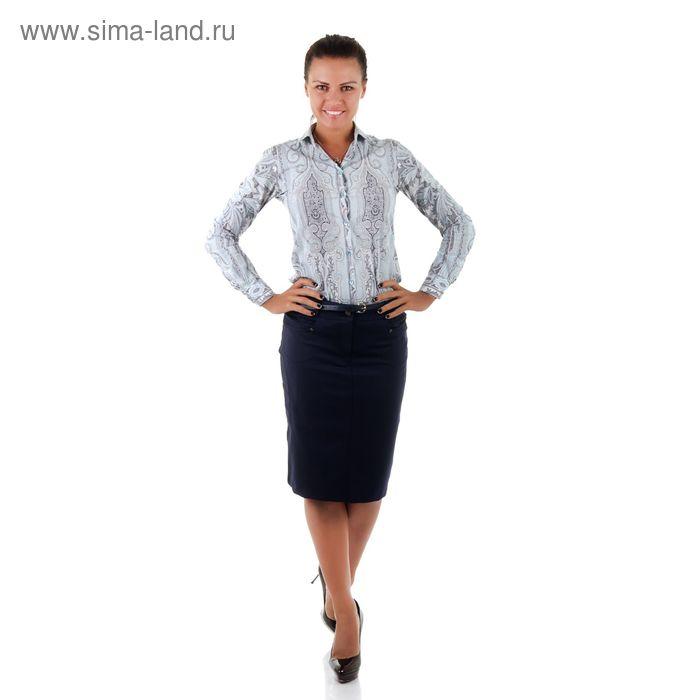 Юбка женская 486, размер 48, рост 170, цвет синий