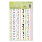 """Набор декоративной клейкой ленты """"Бабочки"""" , 10,5 Х21 см"""
