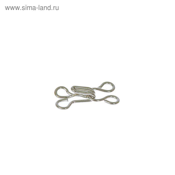 Крючки пришивные, 1шт, № 0, цвет серебристый