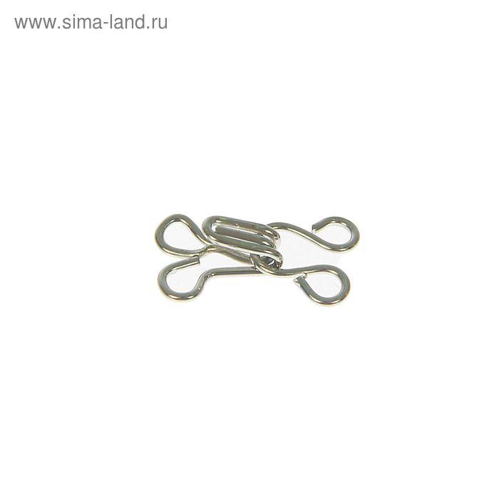 Крючки пришивные, 1шт, № 2, цвет серебристый