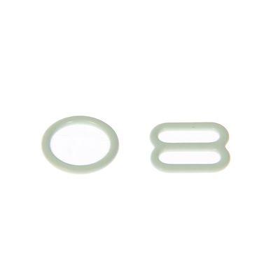 Комплект для бретелей 2 регулятора+4 кольца, ширина бретели - 15мм, цвет белый