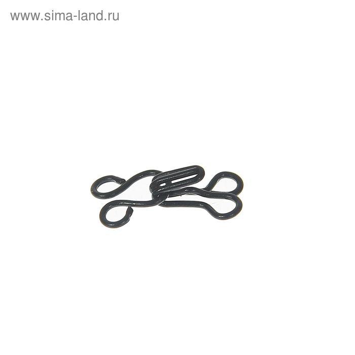Крючки пришивные, 1шт, № 0, чёрный